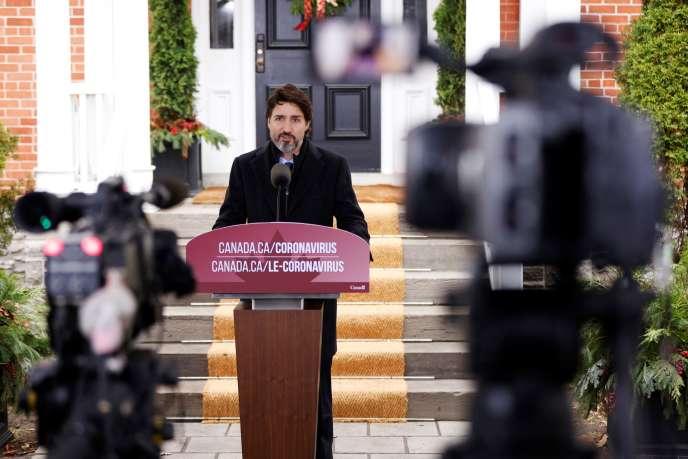 Le premier ministre canadien Justin Trudeau, le 20 novembre à Ottawa.