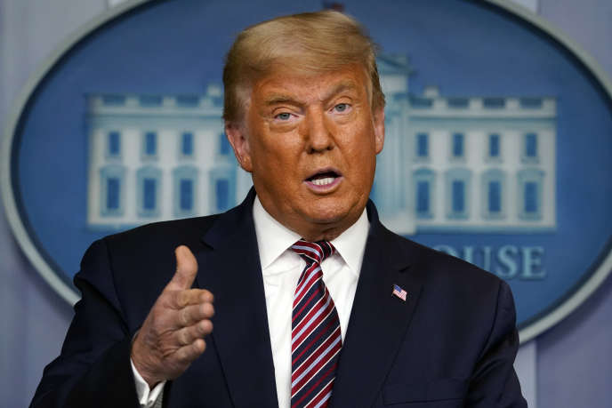 Donald Trump lors d'une prise de parole à la Maison Blanche, le5 novembre.