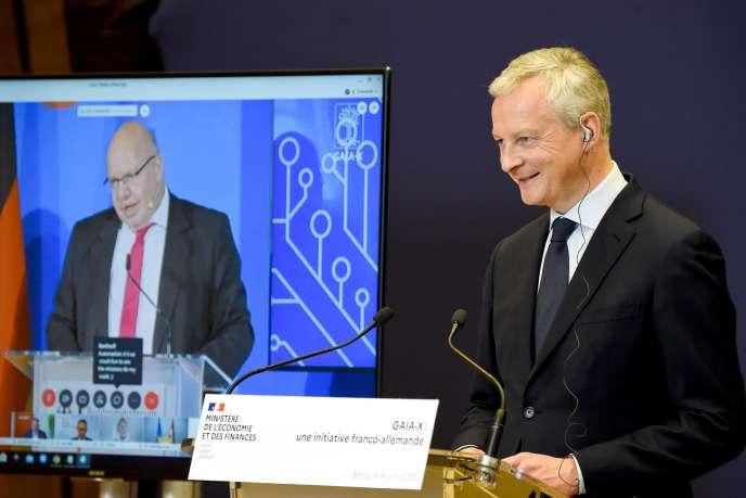 Le ministre de l'économie français, Bruno Le Maire, et son homologue allemand, Peter Altmaier, le 4 juin 2020.