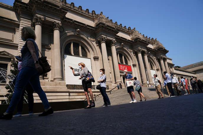 Lors de la réouverture du Metropolitan Museum of Art, à New York, le 27 août 2020.