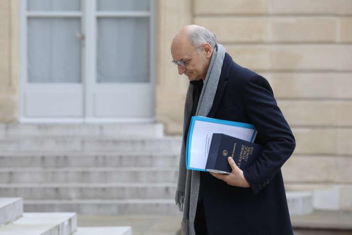 Didier Migaud, alors président de la Cour des comptes, à l'Elysée en février 2019.