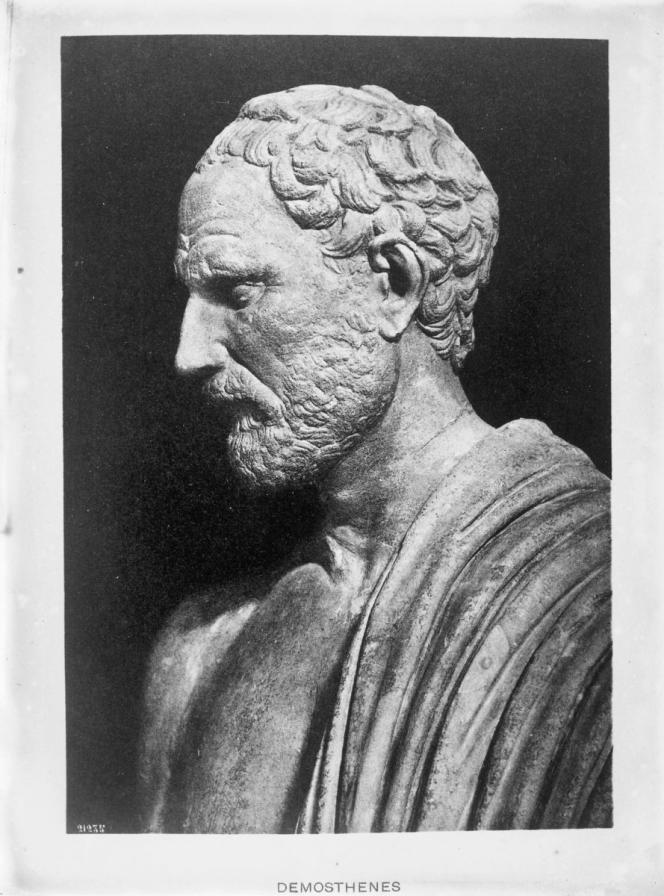 Démosthène (384-322 av.J.-C.), homme d'Etat et grand orateur athénien.