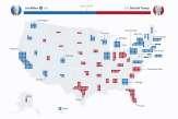 La carte des résultats de l'élection américaine, Etat par Etat