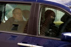 Michel Fourniret lors de son arrivée au tribunal de Charleville-Mézières, le 29 mai 2008.