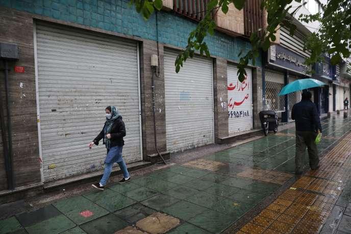 Dans les rues de Téhéran, le 21 novembre 2020.
