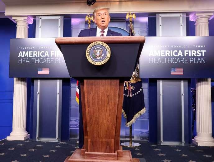 Donald Trump réaffirme sa victoire lors d'une conférence de presse dédiée à la santé, àla Maison Blanche, le 20 novembre.