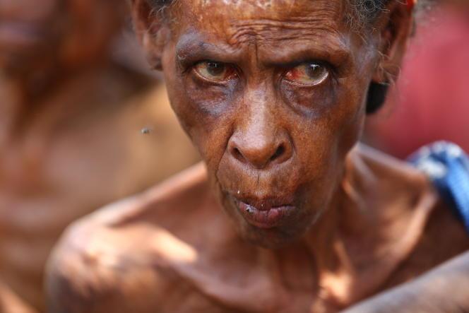 Les personnes âgées sont parmi les premières victimes de la crise alimentaire, dans le sud de Madagascar, en novembre 2020.