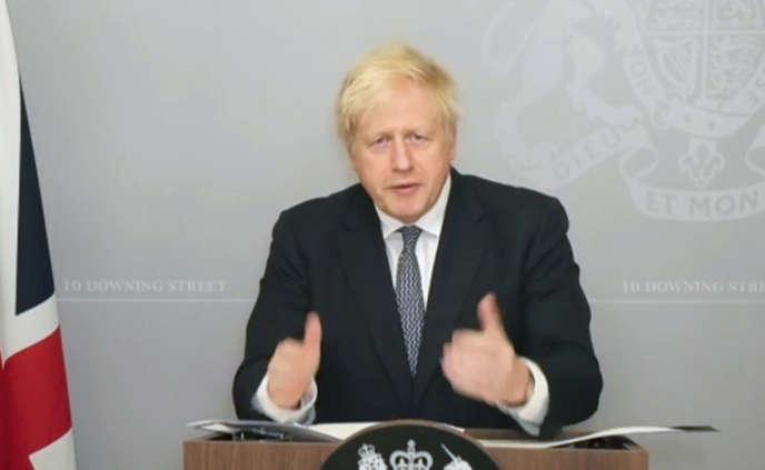 Boris Johnson a détaillé son plan de déconfinement, lundi 23novembre.
