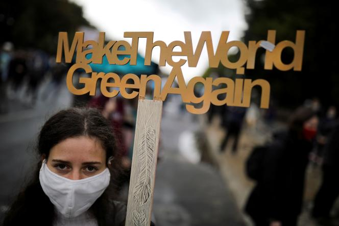 Lors d'un appel à une journée mondiale de l'action climatique, à Berlin, le 25 septembre 2020.