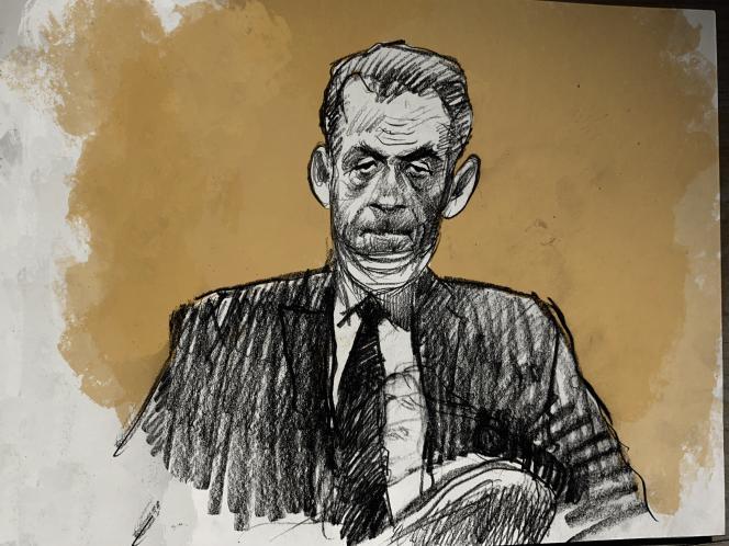 Nicolas Sarkozy au tribunal de Paris, le 23 novembre.