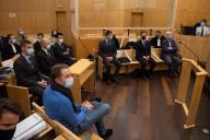 Rachid Hami, le frère de Jallal Hami, face aux sept prévenus autribunal correctionnel de Rennes, lundi 23 novembre.