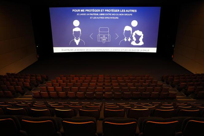 Dans un cinéma parisien, le 17 juin 2020.