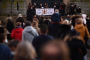 Manifestation pour la reprise de la messe, Versailles, le 15 novembre 2020.