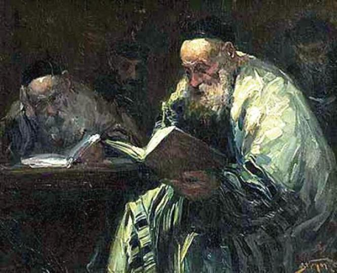 Lecteurs du Talmud, par Adolf Behrman,début du XXe siècle.