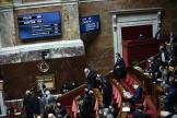 Lors du vote de la loi« Sécurité globale» à l'Assemblée Nationale le 24 novembre.