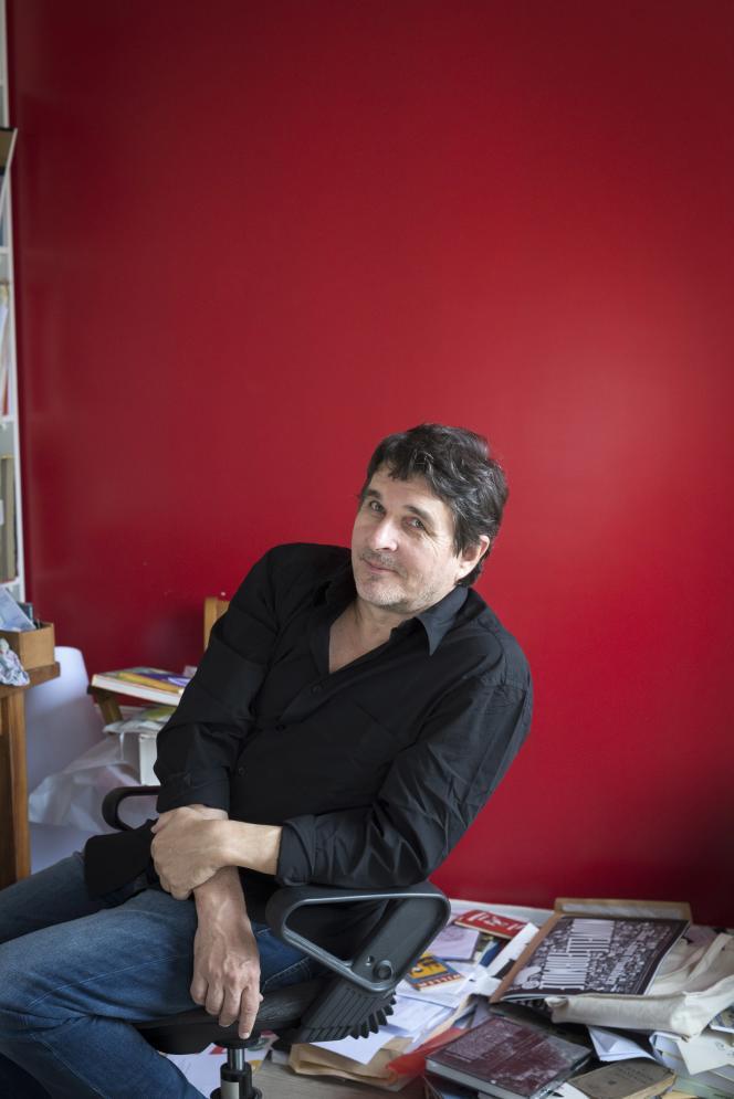 Frédéric Pajak, chez lui, en octobre2017.