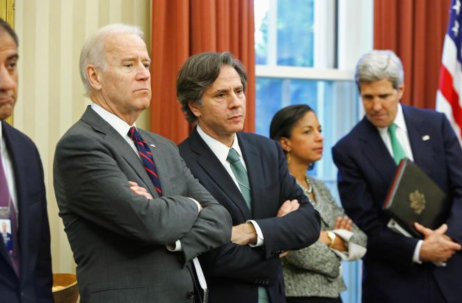 Tony Blinken (au centre), conseiller de longue date de Joe Biden, en 2013 à la Maison Blanche.