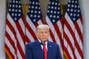 Donald Trump fait le point sur «l'opération Warp Speed» dans la roseraie de la Maison Blanche, à Washington, DC, le 13 novembre.