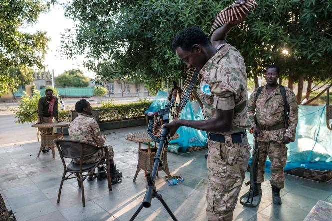 Un membre des forces spéciales d'Amhara, le 22 novembre, à Humera.