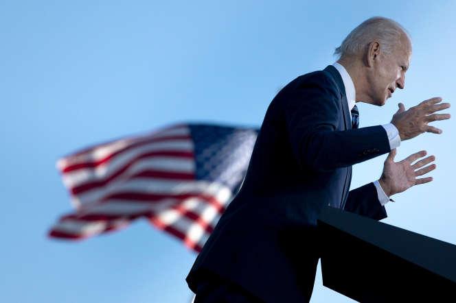 Joe Biden, alors candidat démocrate à la présidentielle américaine, à Gettysburg (Pennsylvanie) le 6 octobre.