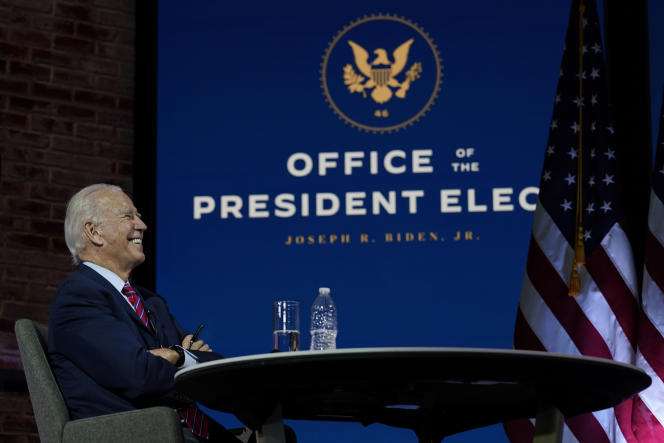 Joe Biden, lors de la conférence des maires des Etats-Unis, au Queen Theater, à Wilmington (Delaware), le 23 novembre.