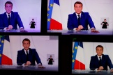 Le président Emmanuel Macron s'adresse aux Français le 24 novembre.