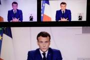 Le président Emmanuel Macron, lors de son allocution télévisée, mardi 24 novembre.