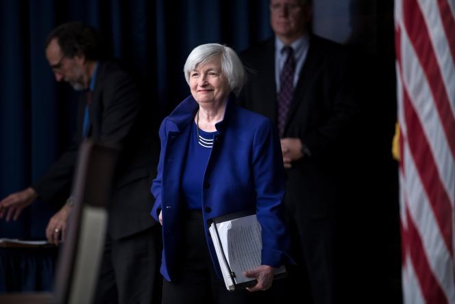 Janet Yellen, alors présidente de la Réserve fédérale américaine, à Washington (DC), en décembre 2017.