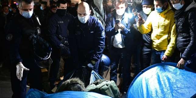 Le point sur l'évacuation du camp de migrants à Paris: coups de matraque et «chasse à l'homme», indignation politique et enquête de l'IGPN