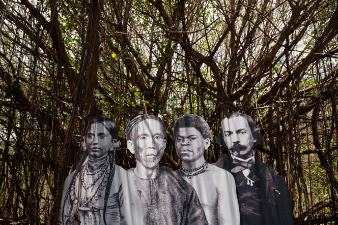 A l'entrée du lazaret de La Grande Chaloupe, devenu un lieu de mémoire pour les immigrants de La Réunion.