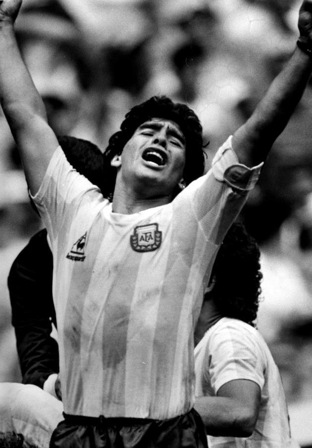 Diego Maradona, lors de la finale de la Coupe du monde, en juin 1986, à Mexico.