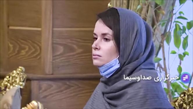 Photo tirée d'images diffusées sur la télévision publique iranienne TV IRIB de la chercheuse australo-britannique Kylie Moore-Gilbert, le 25 novembre lors de l'annonce de sa libération.