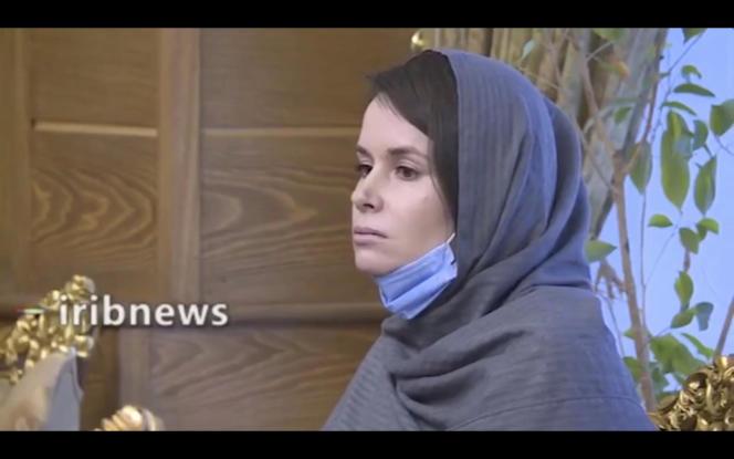 Image de Kylie Moore-Gilbert diffusée par la télévision iranienne, mercredi 25 novembre 2020.
