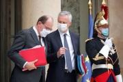 Le premier ministre, Jean Castex, et le ministre de l'économie, Bruno Le Maire, à l'Elysée, le 25 novembre 2020.