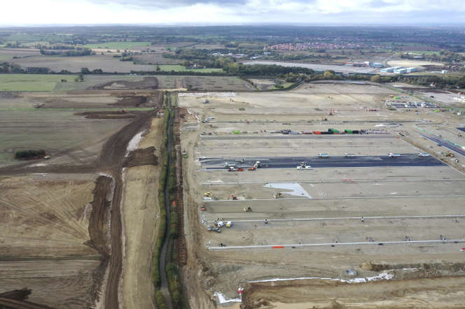 Le chantier du futur centre de contrôle douanier, le 23 octobre, près d'Ashford dans le Kent (Angleterre).