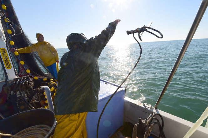 Pêcheurs à Gruissan, près de Narbonne (Aude), en 2014.