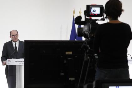 Jean Castex lors de la conférence de presse sur la situation sanitaire le 26 novembre à Paris.