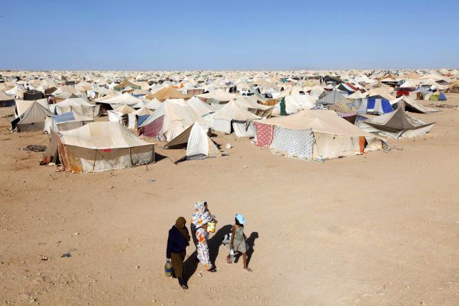 Le camp Gdim Izik, situé à la périphérie de la principale ville du Sahara occidental, Laâyoune, en novembre 2010.