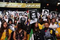Lors du meeting de l'opposition iranienne en exil, à Villepinte (Seine Saint-Denis), le 30 juin 2018.