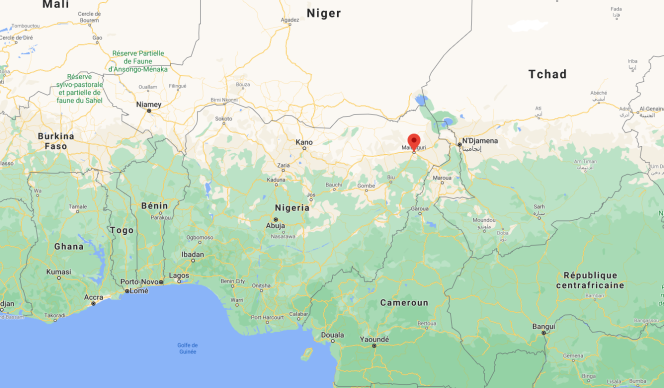 La ville de Maiduguri se trouve à une dizaine de kilomètres de la rizière où a eu lieu l'attaque de Boko Haram, le 28 novembre 2020.