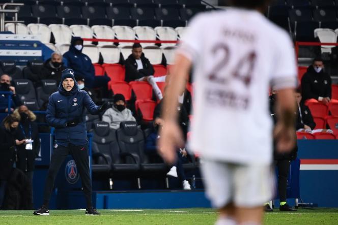 Thomas Tuchel, lors du match nul 2-2 du PSG contre Bordeaux.