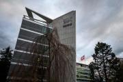 Au siège du géant suisse de l'agroalimentaire Nestlé, le 19 novembre à Vevey (Suisse).