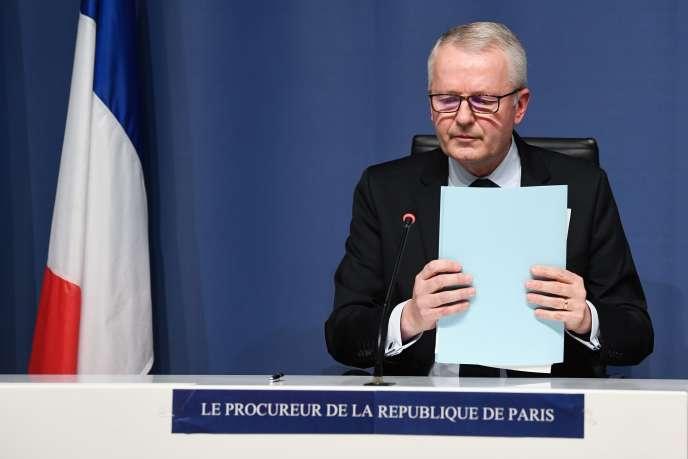 Rémy Heitz, le procureur de Paris, le 29 novembre 2020, lors d'une conférence de presse.