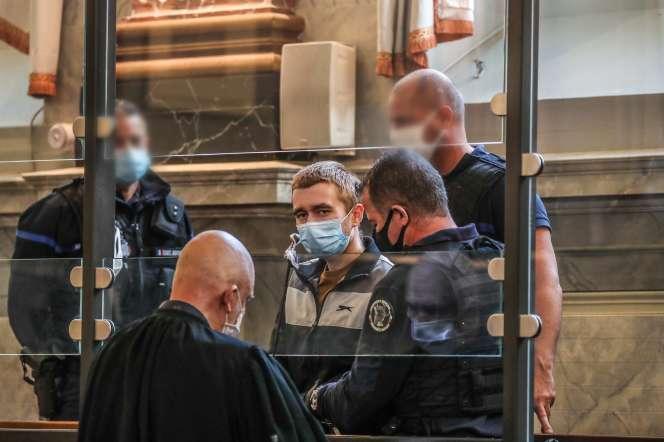 Kevin Rouxel, devant la cour d'assises de Pau, le 20 novembre.