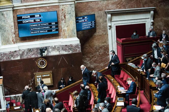 Vote de la proposition de loi «sécurite globale», le 24 novembre à l'Assemblée nationale.