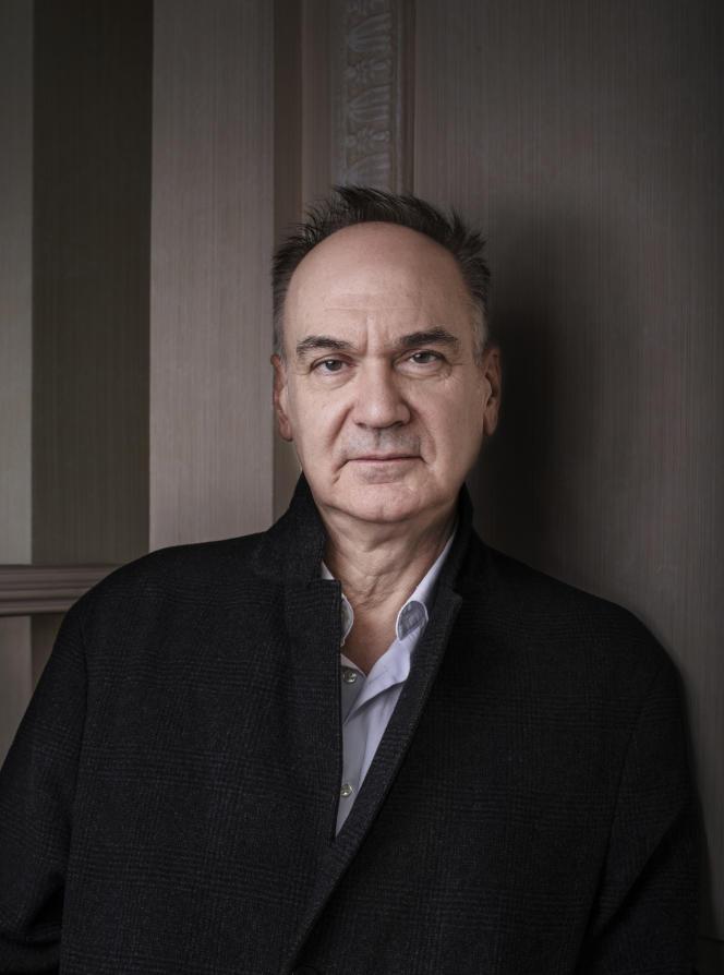 L'écrivain Hervé Le Tellier, le 14 octobre, à Paris.