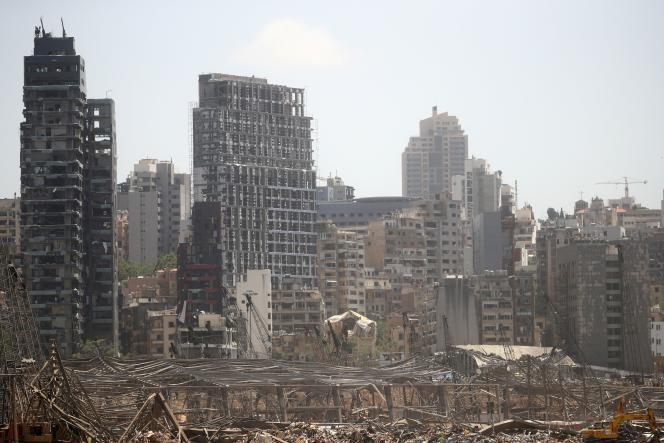 La zone portuaire de Beyrouth, quatre jours après l'explosion du 4 août.