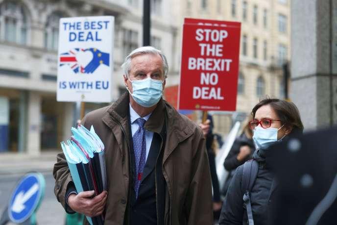 Michel Barnier, à Londres, le 30 novembre 2020.