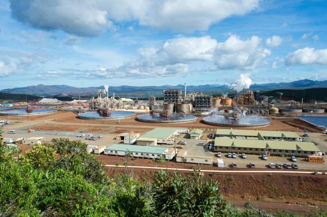 L'usine de nickel de Vale, en Nouvelle Calédonie, en mai 2015.