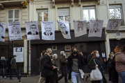 Lors de la manifestation contre la loi de «sécurité globale», à Paris, le 28novembre.